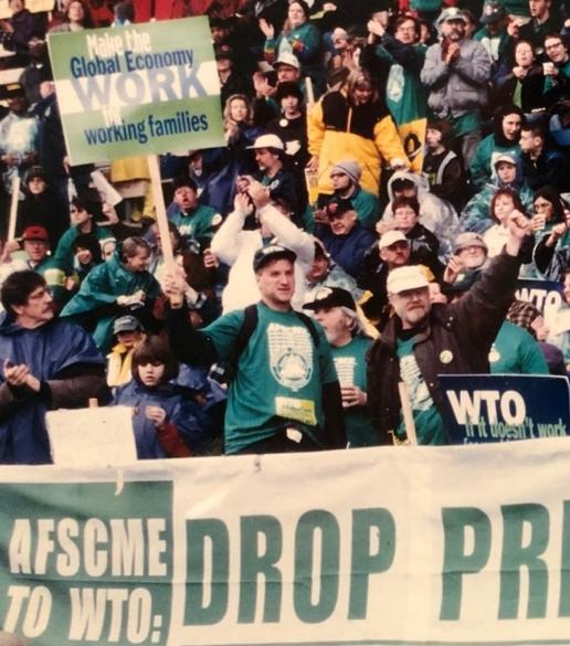 Greg Devereux at the 1999 Battle of Seattle
